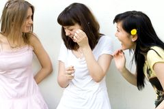 Three female friends Royalty Free Stock Images