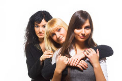 Three female friends Stock Photos