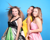 Three female friends Stock Photos