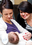Three female generations Royalty Free Stock Photos