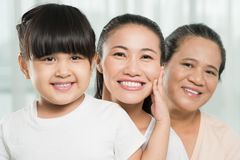 Three female generations Stock Photography