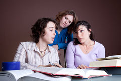Three female students Stock Image