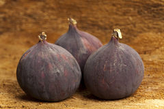 Three figs on bark Stock Images