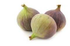 Three figs (Ficus carica) Royalty Free Stock Images
