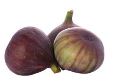 Three figs isolated on white Stock Images