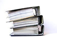 Three filled folders Stock Photos
