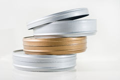 Three film tins Royalty Free Stock Image