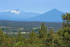 Three-Fingered Jack and Black Butte Royalty Free Stock Photos