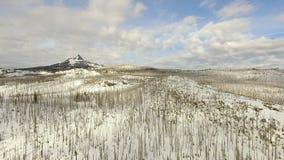 Three Fingered Jack distinctive shape Pleistocene volcano Cascade Range Oregon stock footage