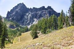 Three Fingered Jack Mountain Stock Image