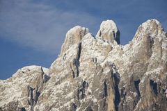 Three fingers mountain. Three top mountain on the italian alps called three fingers Royalty Free Stock Image
