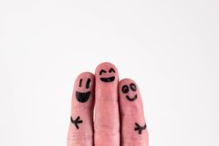 Three fingers, the three old friends royalty free stock photo