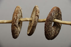 Three finnish round rye bread Stock Photography