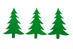 Three fir trees Royalty Free Stock Photos