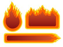 Three fire frames Stock Image