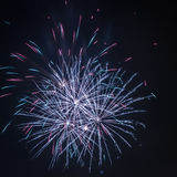 Three fireworks during the celebrations Royalty Free Stock Image