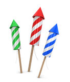 Three fireworks Royalty Free Stock Photo