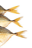 Three fish tails isolated Royalty Free Stock Photo