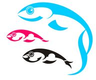 Three fishes Royalty Free Stock Images