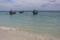 Fishing boat on sea royalty free stock image
