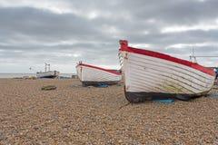Three Fishing Boats Royalty Free Stock Photos