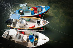 Three fishing boats. Stock Image