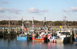 Three fishing boats Stock Image