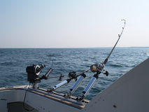Three Fishing Poles Stock Image