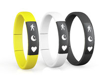 Three Fitness Trackers Royalty Free Stock Photography