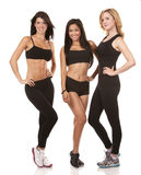 Three fitness women Stock Images