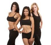 Three fitness women Stock Photos