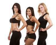 Three fitness women Royalty Free Stock Images