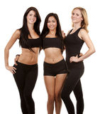 Three fitness women Royalty Free Stock Photo