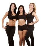 Three fitness women Royalty Free Stock Photo