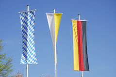 Three flags Stock Photo