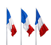 Three flags of France Royalty Free Stock Image