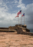 Three Flags Over San Juan Royalty Free Stock Photography