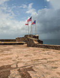 Three Flags Over San Juan Stock Photo