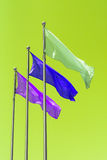 Three flags. Royalty Free Stock Photography