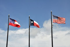 Three flags of Texas Royalty Free Stock Photo