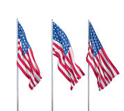 Three flags of usa Stock Photo