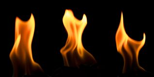 Three flames Royalty Free Stock Images
