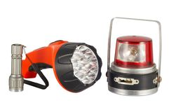 Three flashlights Stock Image
