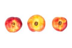 Three flat peach Royalty Free Stock Image