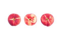 Three flat peaches Royalty Free Stock Image