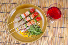 Three Flavored Fish Barbeque Stock Photos