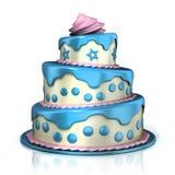Three Floor Cake Royalty Free Stock Photo