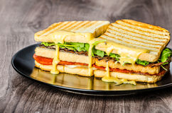 Three floor Panini toast Royalty Free Stock Photo