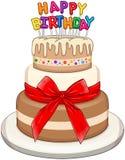 Three Floors Happy Birthday Cake Stock Images