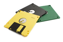 Three floppy disk Royalty Free Stock Photos